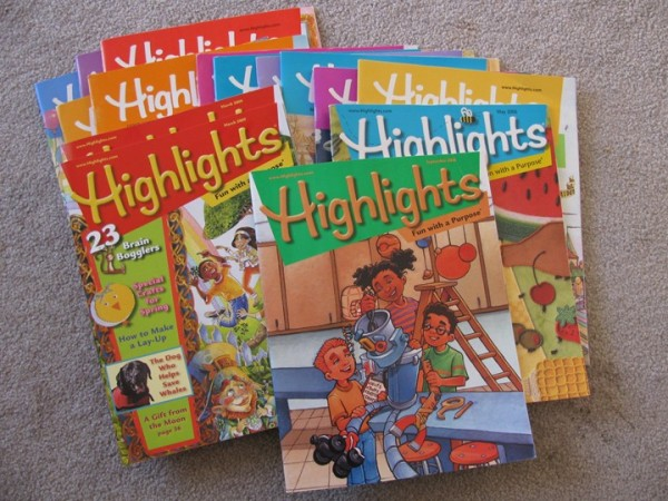 Issues of Highlights Magazine