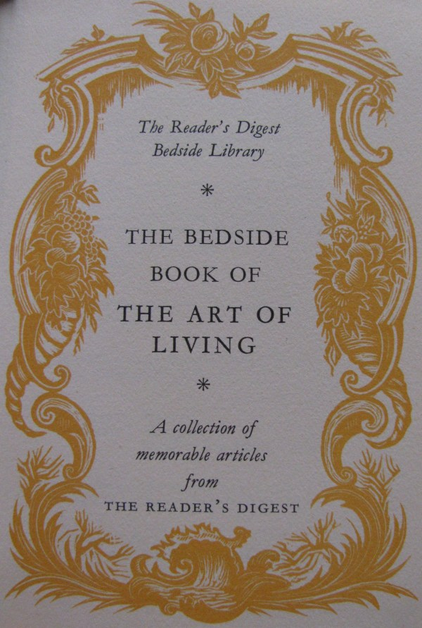 Book review of The Bedside Book of the Art of Living