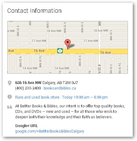 contact info & sm map