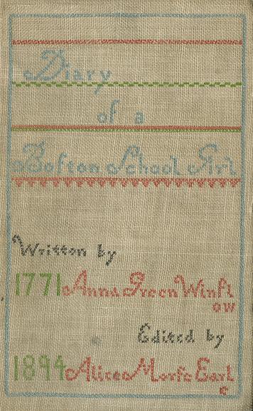 Diary Anna Winslow